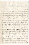 Letter, 1862 April 2, C. Ladley [Catherine Ladley] to Son [Oscar D. Ladley]