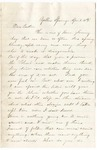 Letter, 1862 April 6, Mary [Mary Ladley] to Brother [Oscar D. Ladley]