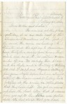 Letter, 1862 May 5, Oscar D. Ladley to Mother and Sisters [Catherine, Mary, and Alice Ladley]