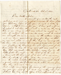 Letter, 1862 October 1, Oscar D. Ladley to Mother and Sisters [Catherine, Mary, and Alice Ladley]