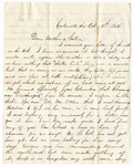 Letter, 1862 October 13, Oscar D. Ladley to Mother and Sisters [Catherine, Mary, and Alice Ladley]