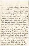Letter, 1862 November 30, C. Ladley [Catherine Ladley] to Son [Oscar D. Ladley]