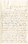 Letter, 1863 January 4, C. Ladley [Catherine Ladley] to Son [Oscar D. Ladley]