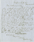 Letter, 1863 January 16, Oscar D. Ladley to Mother and Sisters [Catherine, Mary, and Alice Ladley]