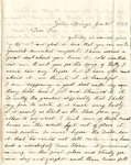 Letter, 1863 January 21, C. Ladley [Catherine Ladley] to Son [Oscar Ladley]
