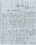 Letter, 1863 January 23, Oscar D. Ladley to Folks at Home