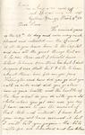 Letter, 1863 March 4, C. Ladley [Catherine Ladley] to Oscar [Oscar D. Ladley]
