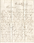 Letter, 1863 March 11, Oscar D. Ladley to Mother [Catherine Ladley]