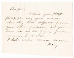 Letter, [1863 March 18], Mary [Mary Ladley] to Chere frere [Oscar D. Ladley]
