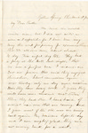 Letter, 1863 March 27, Mary [Alice Ladley] to Brother [Oscar D. Ladley] by Mary Ladley