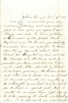 Letter, 1863 April 9, C. Ladley [Catherine Ladley] to Son [Oscar D. Ladley]