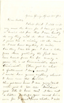 Letter, 1863 April 22, Mary [Mary Ladley] to Brother [Oscar D. Ladley] by Mary Ladley