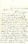 Letter, 1863 May 24, C. Ladley [Catherine Ladley] to My Dear Son [Oscar D. Ladley]