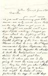 Letter, 1863 June 2, C. Ladley [Catherine Ladley] to Son [Oscar D. Ladley] by Catherine Ladley