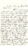 Letter, 1863 June 7, C. Ladley [Catherine Ladley] to Son [Oscar D. Ladley]