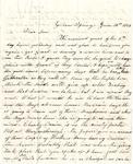 Letter, 1863 June 14, C. Ladley [Catherine Ladley] to Son [Oscar D. Ladley] by Catherine Ladley