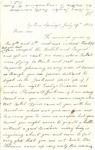 Letter, 1863 July 19, C. Ladley [Catherine Ladley] to Son [Oscar D. Ladley] by Catherine Ladley