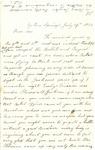 Letter, 1863 July 19, C. Ladley [Catherine Ladley] to Son [Oscar D. Ladley]
