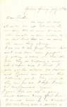 Letter, 1863 July 27, Mary [Mary Ladley] to Brother [Oscar D. Ladley] by Mary Ladley