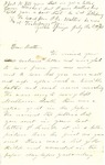 Letter, 1863 July 27, Ally [Alice Ladley] to Brother [Oscar D. Ladley]