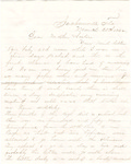 Letter, 1864 March 20, Oscar D. Ladley to Mother and Sisters [Catherine, Mary, and Alice Ladley]