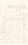 Letter, 1864 September 28, Oscar D. Ladley to Mother and Sisters [Catherine, Mary, and Alice Ladley]