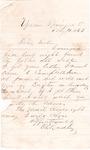 Letter, 1865 February 11, Oscar D. Ladley to Sister
