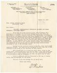 Letter, 1912, January 22, William B. Feakins to Martha McClellan Brown