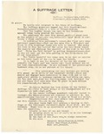 A Suffrage Letter, 1912, March 8