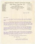 Letter, 1912, August 12, Julius F. Stone to Dear Madam