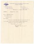 Letter, 1913, February 8, C.H. Wiseman to Mrs. M. McClellan Brown [Martha McClellan Brown] by C. H. Wiseman