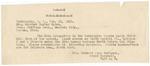 Telegram, 1913, February 21, Mrs. Richard Cope Burleson to Harriet Taylor Upton by Richard Cope Burleson