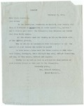 Letter, 1913, February 22, Mrs. Richard Burleson to Dear Madam [Martha McClellan Brown] by Mrs. Richard Cope Burleson