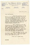 Letter, 1914, April 25, Agnes E. Ryan to Dear Suffragist by Agnes E. Ryan