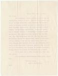 Letter, 1915, February 17, Harriet Taylor Upton to Dear Friend