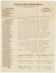 Letter, 1915, June 19, Congressional Union for Woman Suffrage to Dear Suffragist [Martha McClellan Brown] by Congressional Union for Woman Suffrage