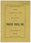 Constitution and By-Laws of the Twentieth Century Club