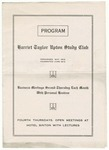 Harriet Taylor Upton Study Club - Program