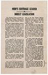 Ohio's Suffrage Leader on Direct Legislation