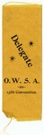 Ohio Woman Suffrage Association Delegate Ribbon