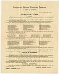 Headquarters National Prohibition Committee: Transportation