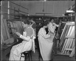 Dayton-Wright Airplane Company employees staining wooden parts by The Dayton-Wright Airplane Company