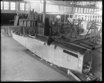 De Havilland DH-4 fuselage with engine in Dayton-Wright Airplane Company factory