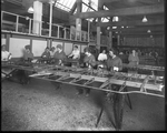 Employees of the Dayton-Wright Airplane Company working on aircraft wings