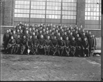Army Signal Corps personnel at the Dayton-Wright Airplane Company