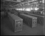 De Havilland DH-4 airplanes packaged and ready to ship at the Dayton-Wright Airplane Company