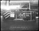 The fuselage of the 1000 De Havilland DH-4 produced by the Dayton-Wright Airplane Company packaged in a crate for shipment at Plant 1 July 31, 1918