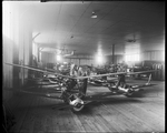 Employees of the Dayton-Wright Airplane Company working on the Kettering Bug
