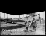 Orville Wright and Howard Rinehart with a De Havilland DH-4 at the Dayton-Wright Airplane Company South Field May 14, 1918