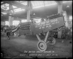 The fuselage of the 1000 De Havilland DH-4 built by the Dayton-Wright Airplane Company Plant 1 at operation number four July 25, 1918